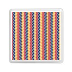 Colorful Chevron Retro Pattern Memory Card Reader (Square)  Front