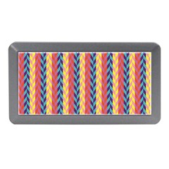 Colorful Chevron Retro Pattern Memory Card Reader (mini)