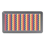 Colorful Chevron Retro Pattern Memory Card Reader (Mini) Front