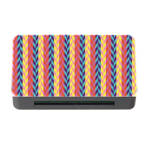 Colorful Chevron Retro Pattern Memory Card Reader with CF