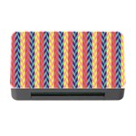 Colorful Chevron Retro Pattern Memory Card Reader with CF Front
