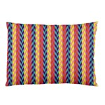 Colorful Chevron Retro Pattern Pillow Case (Two Sides) Back