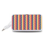Colorful Chevron Retro Pattern Portable Speaker (White)  Front