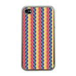 Colorful Chevron Retro Pattern Apple iPhone 4 Case (Clear) Front