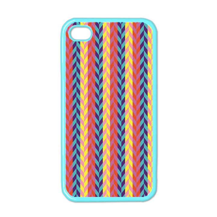 Colorful Chevron Retro Pattern Apple iPhone 4 Case (Color)