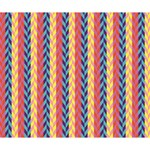 Colorful Chevron Retro Pattern Deluxe Canvas 14  x 11  14  x 11  x 1.5  Stretched Canvas