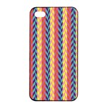 Colorful Chevron Retro Pattern Apple iPhone 4/4s Seamless Case (Black) Front