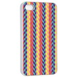 Colorful Chevron Retro Pattern Apple iPhone 4/4s Seamless Case (White) Front