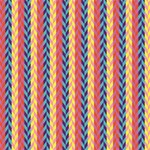 Colorful Chevron Retro Pattern Happy Birthday 3D Greeting Card (8x4) Inside