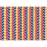 Colorful Chevron Retro Pattern BOY 3D Greeting Card (7x5) Front