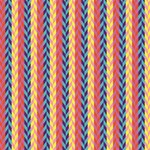 Colorful Chevron Retro Pattern Twin Hearts 3D Greeting Card (8x4) Inside