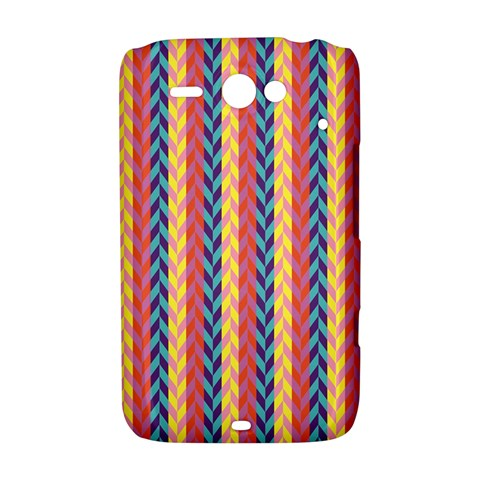 Colorful Chevron Retro Pattern HTC ChaCha / HTC Status Hardshell Case