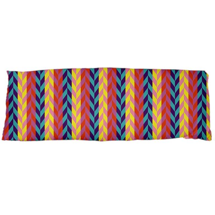 Colorful Chevron Retro Pattern Body Pillow Case Dakimakura (Two Sides)
