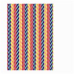 Colorful Chevron Retro Pattern Small Garden Flag (Two Sides) Front