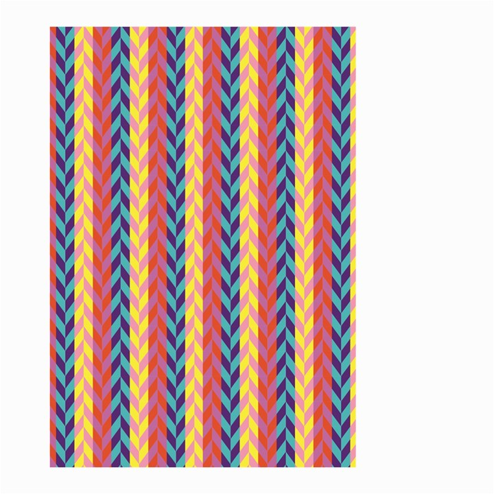 Colorful Chevron Retro Pattern Small Garden Flag (Two Sides)