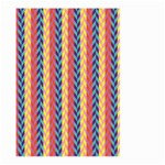 Colorful Chevron Retro Pattern Large Garden Flag (Two Sides) Front