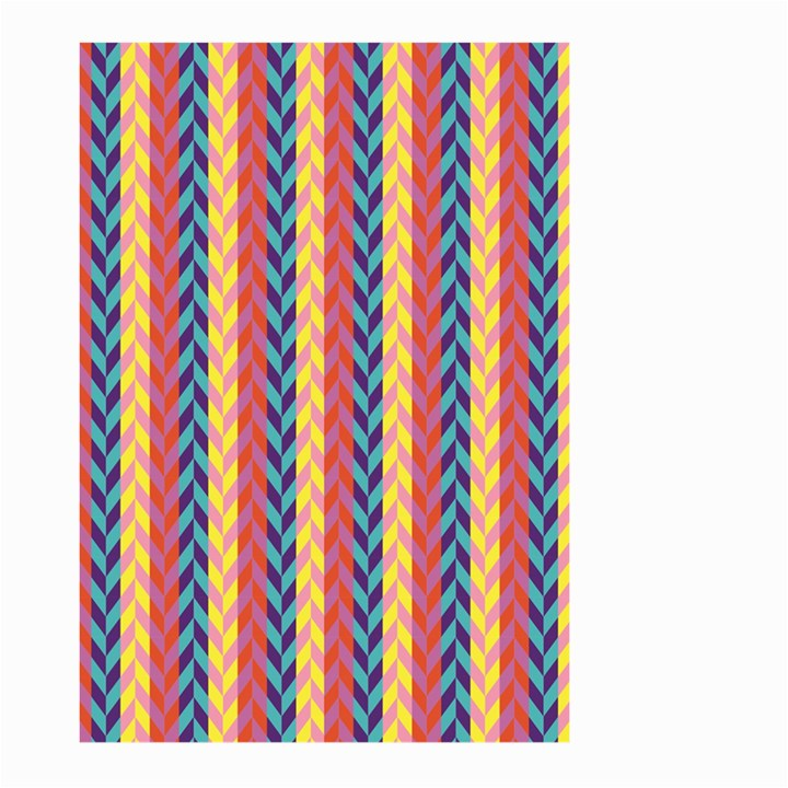Colorful Chevron Retro Pattern Large Garden Flag (Two Sides)