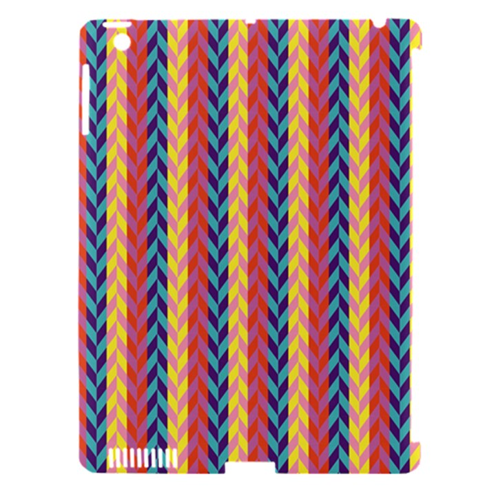 Colorful Chevron Retro Pattern Apple iPad 3/4 Hardshell Case (Compatible with Smart Cover)