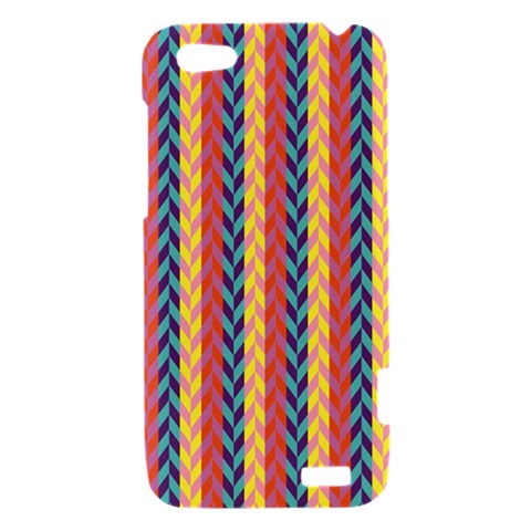 Colorful Chevron Retro Pattern HTC One V Hardshell Case