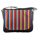 Colorful Chevron Retro Pattern Messenger Bags Front