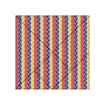 Colorful Chevron Retro Pattern Acrylic Tangram Puzzle (4  x 4 ) Front