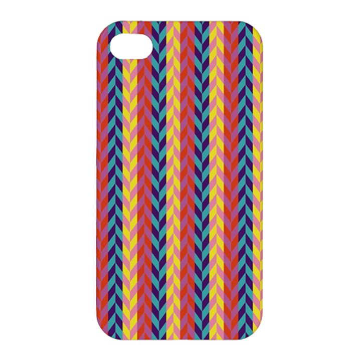 Colorful Chevron Retro Pattern Apple iPhone 4/4S Premium Hardshell Case