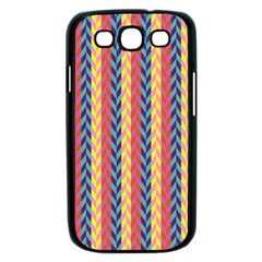 Colorful Chevron Retro Pattern Samsung Galaxy S III Case (Black)