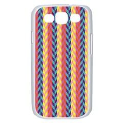 Colorful Chevron Retro Pattern Samsung Galaxy S III Case (White)