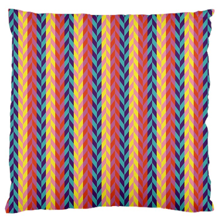 Colorful Chevron Retro Pattern Large Cushion Case (One Side)