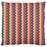 Colorful Chevron Retro Pattern Large Cushion Case (Two Sides) Front