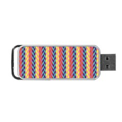 Colorful Chevron Retro Pattern Portable USB Flash (Two Sides)