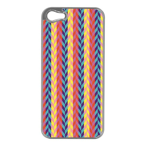 Colorful Chevron Retro Pattern Apple iPhone 5 Case (Silver)
