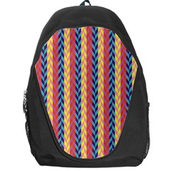 Colorful Chevron Retro Pattern Backpack Bag