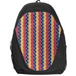 Colorful Chevron Retro Pattern Backpack Bag Front