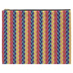 Colorful Chevron Retro Pattern Cosmetic Bag (XXXL)  Front
