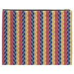 Colorful Chevron Retro Pattern Cosmetic Bag (XXXL)  Back