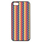 Colorful Chevron Retro Pattern Apple iPhone 5 Seamless Case (Black) Front