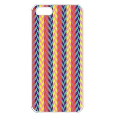 Colorful Chevron Retro Pattern Apple iPhone 5 Seamless Case (White)