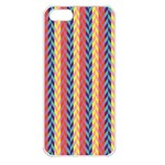 Colorful Chevron Retro Pattern Apple iPhone 5 Seamless Case (White) Front