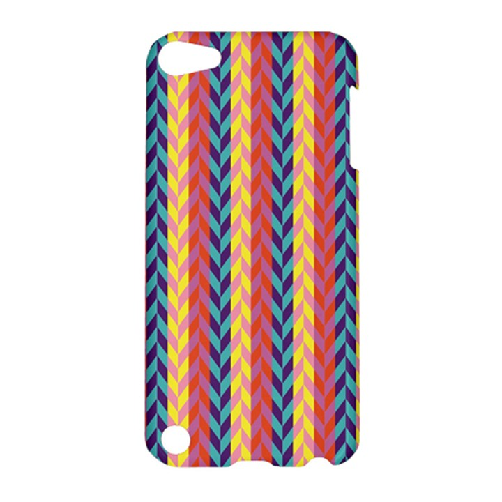 Colorful Chevron Retro Pattern Apple iPod Touch 5 Hardshell Case