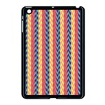 Colorful Chevron Retro Pattern Apple iPad Mini Case (Black) Front
