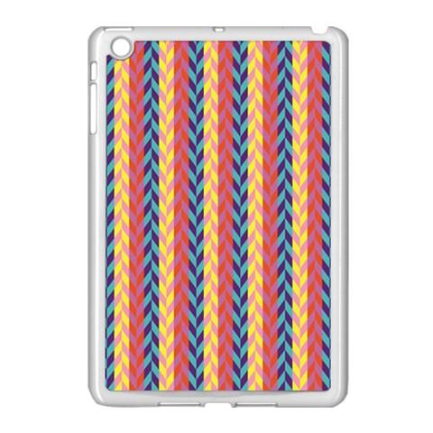 Colorful Chevron Retro Pattern Apple iPad Mini Case (White)