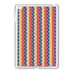 Colorful Chevron Retro Pattern Apple iPad Mini Case (White) Front