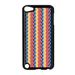Colorful Chevron Retro Pattern Apple iPod Touch 5 Case (Black) Front