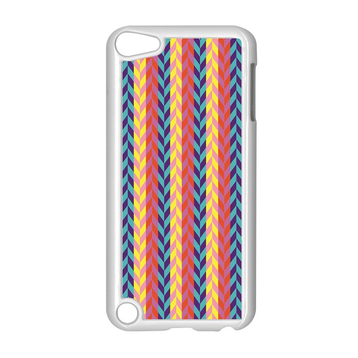 Colorful Chevron Retro Pattern Apple iPod Touch 5 Case (White)