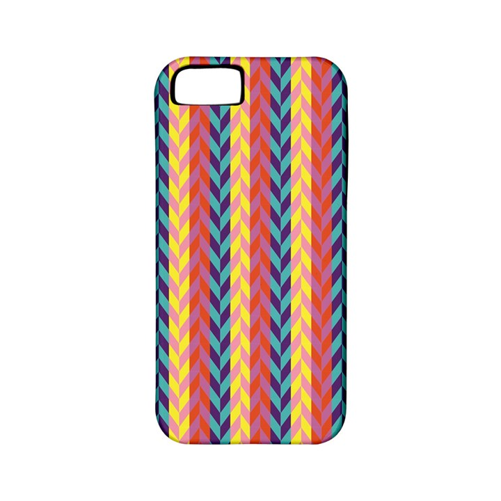 Colorful Chevron Retro Pattern Apple iPhone 5 Classic Hardshell Case (PC+Silicone)