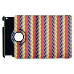 Colorful Chevron Retro Pattern Apple iPad 2 Flip 360 Case