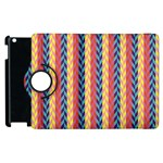 Colorful Chevron Retro Pattern Apple iPad 2 Flip 360 Case Front