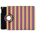 Colorful Chevron Retro Pattern Apple iPad Mini Flip 360 Case Front