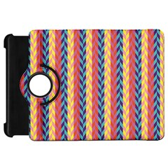 Colorful Chevron Retro Pattern Kindle Fire HD Flip 360 Case